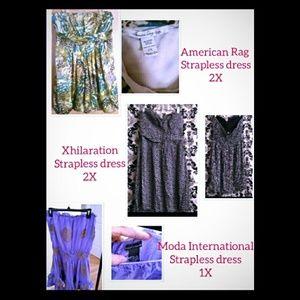 Plus Size Strapless dress Bundle